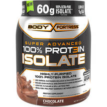Body Fortress Super Advanced 100% Protein Isolate Chocolate Dietary Supplement Powder