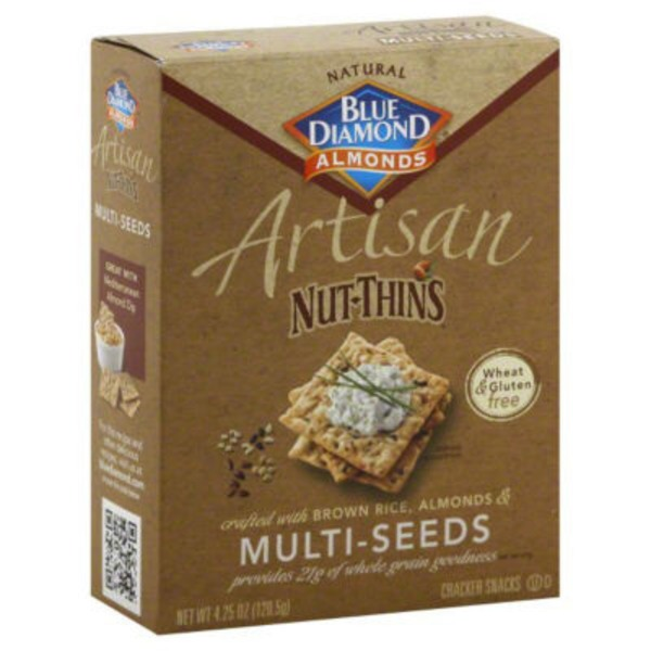 Blue Diamond Almonds Multi-Seeds Nut & Rice Cracker Snacks
