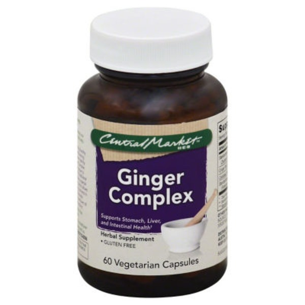 Central Market Ginger Complex Vegetarian Capsules