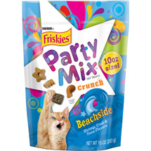 Friskies Treats Party Mix Beachside Crunch Cat Treats