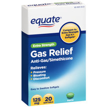 Equate Extra Strength Gas Relief 125mg Softgels