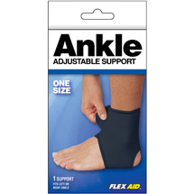 Flex Aid Adjustable Ankle Support One Size