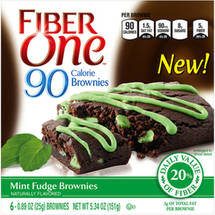 Fiber One 90 Calorie Mint Fudge Brownies