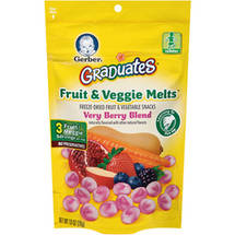 Gerber Graduates Fruit & Veggie Melts Very Berry Blend Fruit & Vegetable Snacks