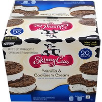 Skinny Cow Vanilla & Cookies 'n Cream Ice Cream Sandwiches