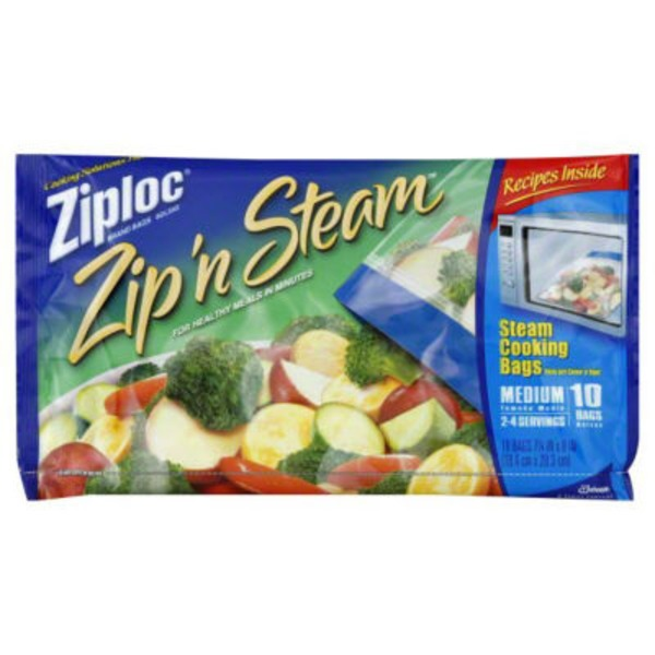 Ziploc Zip'n'Steam Medium Cooking Bags