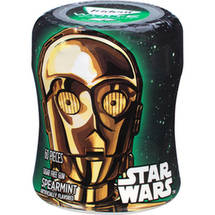 Trident White Star Wars C-3PO Spearmint Sugar Free Gum