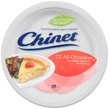 Chinet All Occasion Classic White Paper Plates