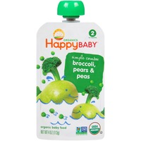 Happy Baby/Family Simple Combos Broccoli, Pears & Peas Stage 2 Organic Baby Food
