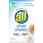 All Free Clear Dryer Sheets for Sensitive Skin