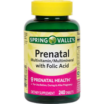 Spring Valley Prenatal Multivitamin/Multimineral Dietary Supplement Tablets