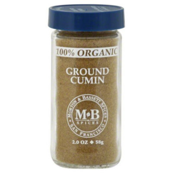 Morton & Bassett Spices Cumin, 100% Organic, Ground