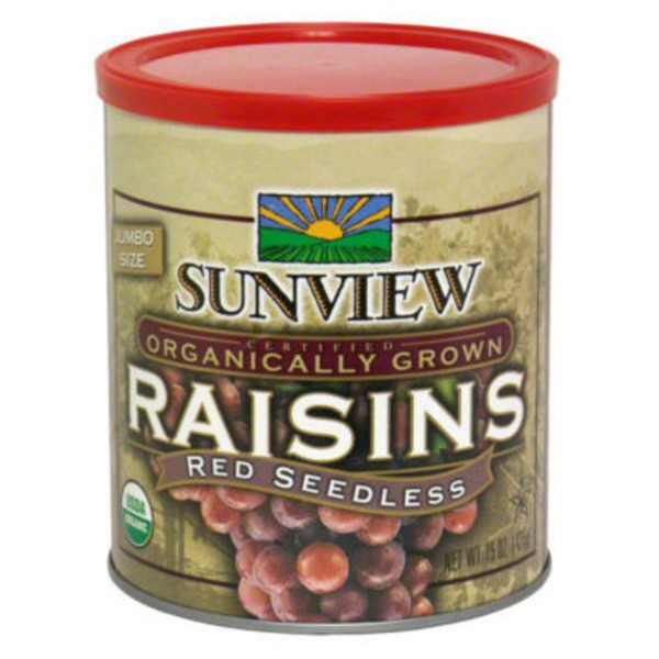 Sunview Raisins Red Seedless Organic Jumbo Size