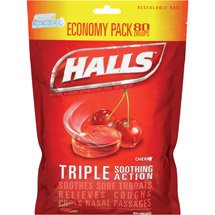 Halls Cherry Menthol Drops Cough Suppressant