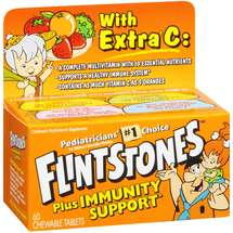 Flintstones Plus Immunity Support With Extra C Children's Multivitamin 60 ct