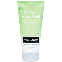 Neutrogena Redness Soothing Cream Cleanser Oil-Free Acne Wash -