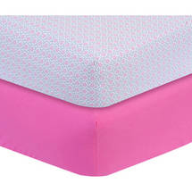 Cotton Crib Sheets Pink