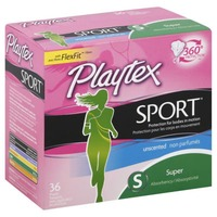 Playtex Sport 360° Unscented Super Plus Absorbency Tampons