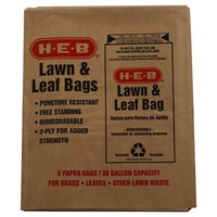 H-E-B 30 Gallon Lawn And Leaf 2 Ply Paper Bags