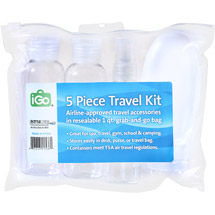iGo Travel Bottle Kit 5 pc (Color May Vary)