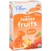 Plum Organics Organic Teensy Fruits Peach Fruit Snacks