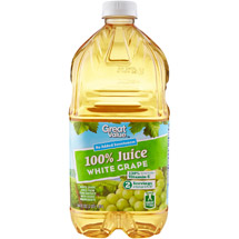 Great Value 100% White Grape Juice 64 Fl Oz