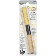 Concealer Twins Yellowith Light with Spf 10 2-1 Correct & Cover Cream Concealer .24 oz