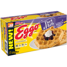 Kellogg's Eggo Thick & Fluffy Blueberry Cobbler Waffles