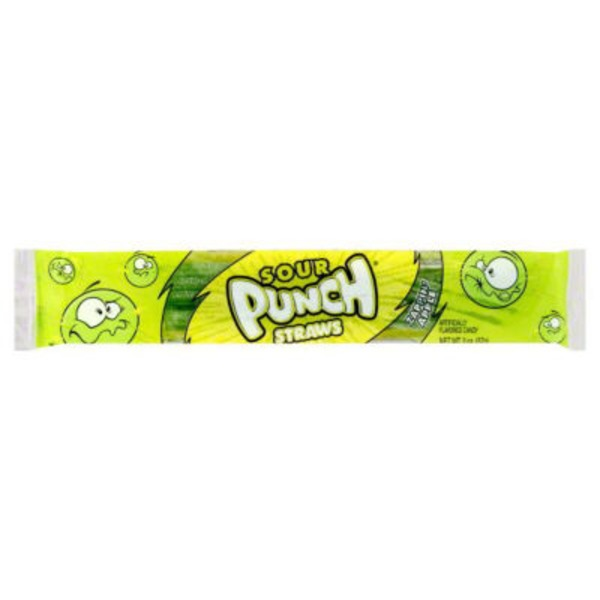Sour Punch Apple Straws Candy