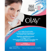Olay 2-In-1 Daily Facial Cloths For Normal Skin