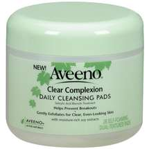 Aveeno(R) Clear Complexion Daily Cleansing Pads Jar Cleansers 28 ct