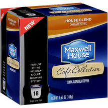 Maxwell House Cafe Collection House Blend Medium Roast Coffee Single Serve Cups