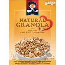 Quaker Oats Honey & Almonds Natural Granola