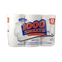 Hill Country Fare 1000 Sheet Soft & Long Lasting Bath Tissue