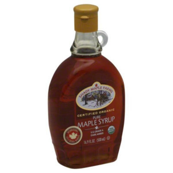 Shady Maple Farm Organic Grade A Dark Amber Maple Syrup