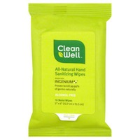 CleanWell All-Natural Hand Sanitizing Wipes