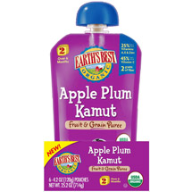 Earth's Best Organic Apple Plum Kamut Fruit & Grain Puree Stage 2 Baby Food