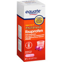 Equate Children's Ibuprofen Bubble Gum Flavor Pain Reliever/Fever Reducer Oral Suspension
