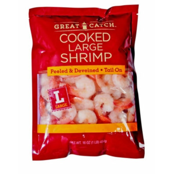 H-E-B Great Catch Large Cooked Peeled And Deveined Shrimp