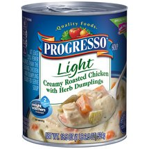 Progresso Light Creamy Roasted Chicken with Herb Dumpling Soup