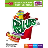 Betty Crocker Fruit Roll-Ups Strawberry/Tropical Tie-Dye/Cherry Orange Wildfire Variety Pack Fruit Flavored Snacks