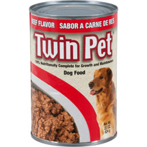 Twin Pet Beef Flavor Dog Food