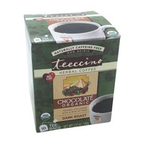 Teeccino Organic Dark Roast Chocolate Herbal Coffee