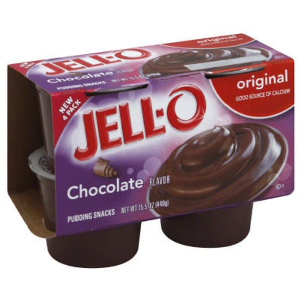 Jell O Ready To Eat Original Chocolate Pudding Snacks