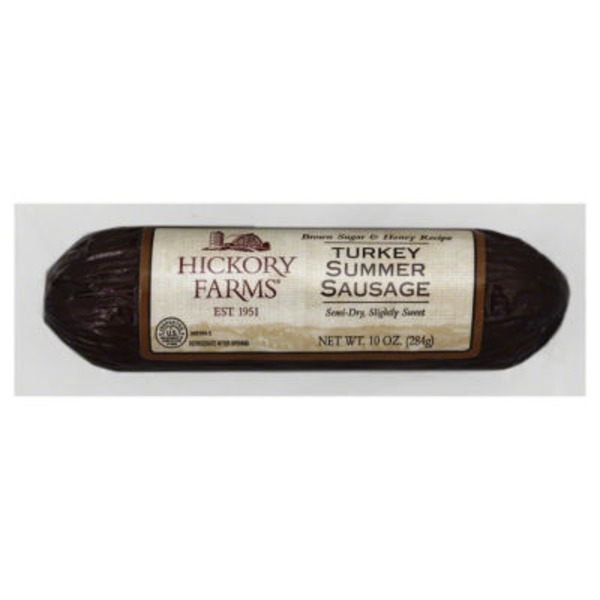 Hickory Farms Brown Sugar & Honey Recipe Turkey Summer Sausage