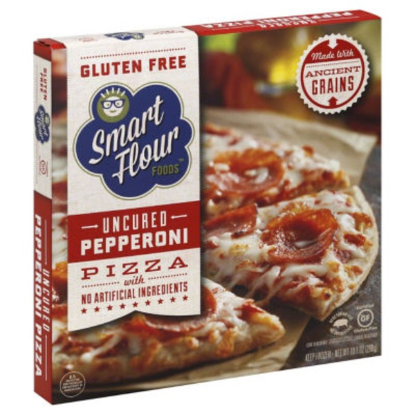Smart Flour Foods Gluten Free Uncured Pepperoni Pizza