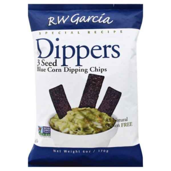RW Garcia 3 Seed Blue Corn Dipping Chips