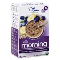 Plum Baby Hello Morning Blueberry Banana & Quinoa Oatmeal Stage 3 Baby Food