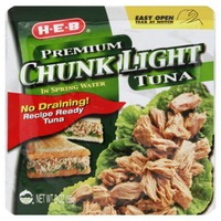 H-E-B Premium Chunk Light Tuna Pouch