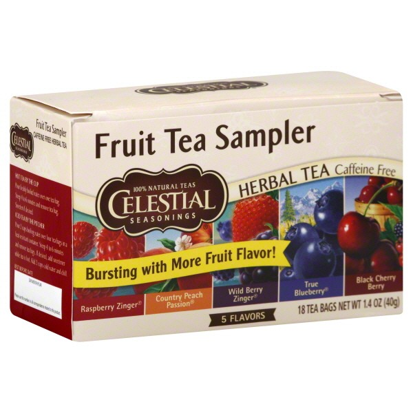 Celestial Seasonings Fruit Tea Sampler Caffeine Free Herbal Tea